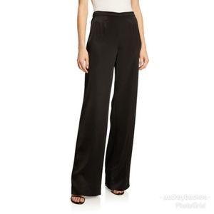 St. John Caviar Wide Legged Pants Black